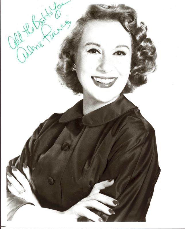 Image 1 for Arlene Francis - Autographed Signed Photograph - HFSID 187350
