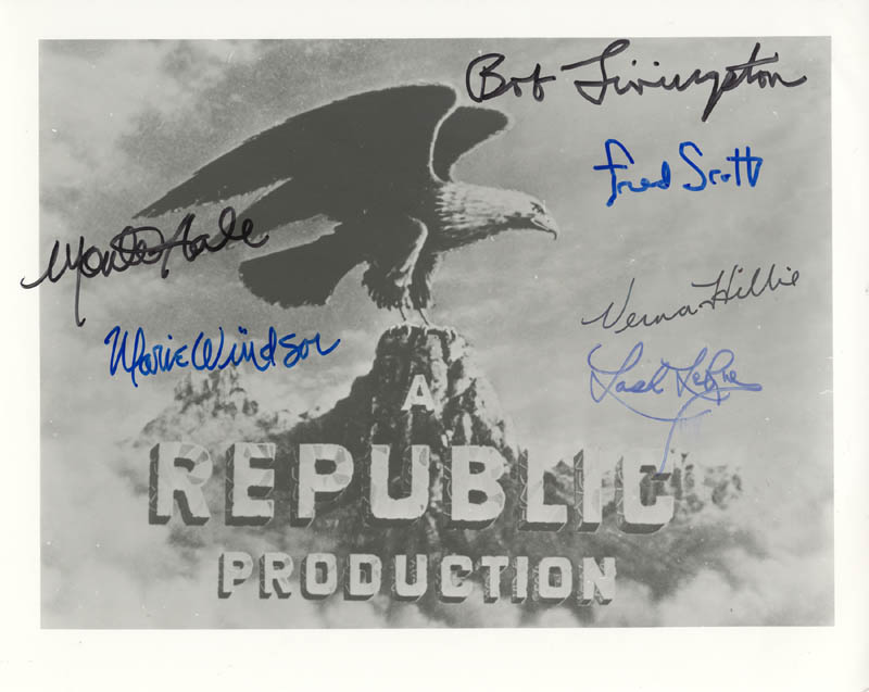 Image 1 for Republic Pictures - Autographed Signed Photograph with co-signers - HFSID 187481