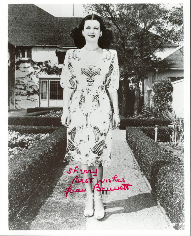 Image 1 for Joan Bennett - Autographed Inscribed Photograph - HFSID 187625