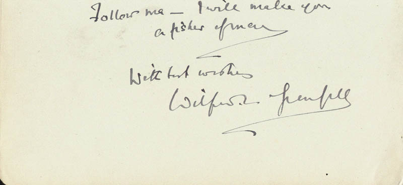 Image 1 for Sir Wilfred T. Grenfell - Autograph Quotation Signed - HFSID 18809