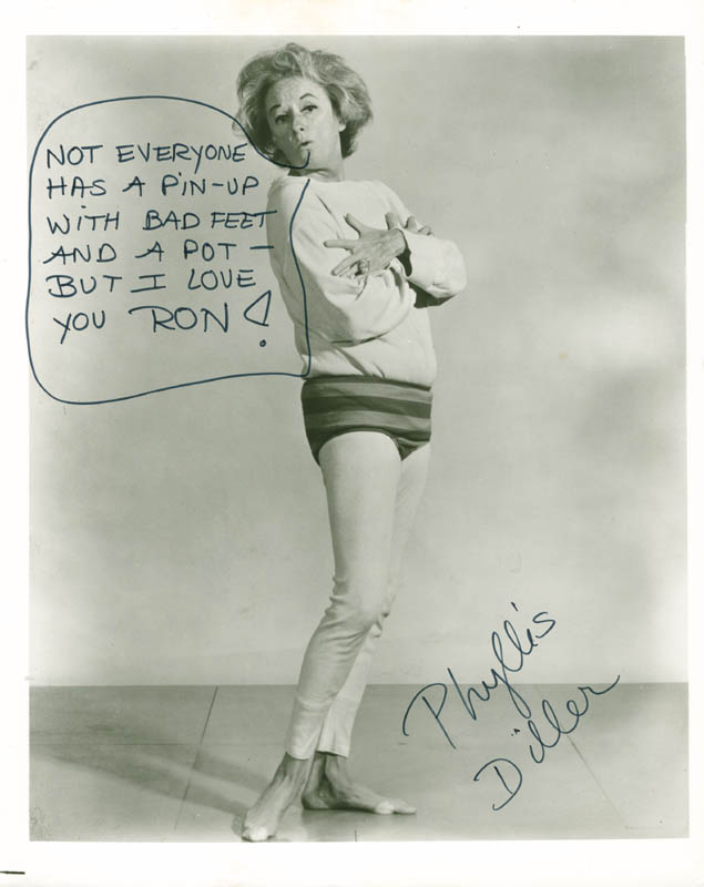 Image 1 for Phyllis Diller - Autographed Inscribed Photograph - HFSID 188133