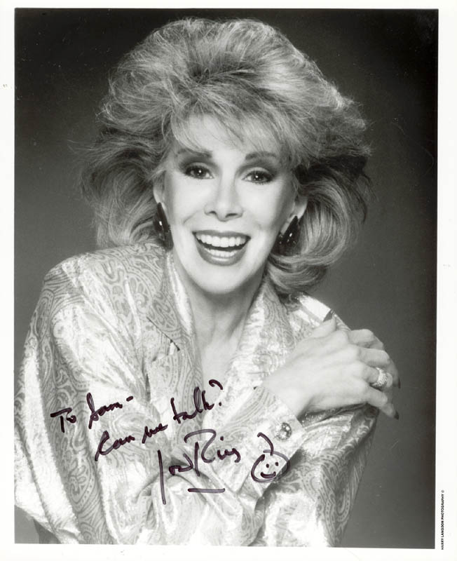 Image 1 for Joan Rivers - Autographed Inscribed Photograph - HFSID 188170