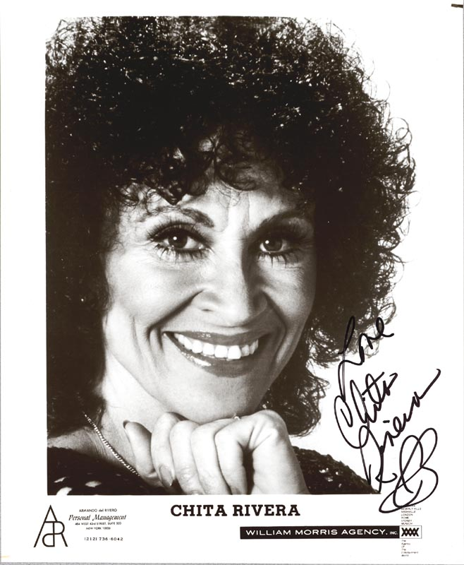 Image 1 for Chita Rivera - Autographed Signed Photograph - HFSID 188232