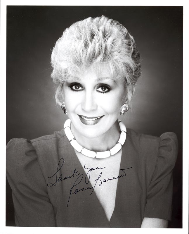 Image 1 for Rona Barrett - Autographed Signed Photograph - HFSID 188638