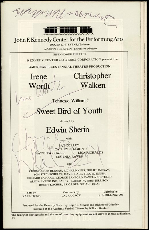 SWEET BIRD OF YOUTH BROADWAY CAST