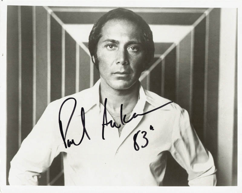 Image 1 for Paul Anka - Autographed Signed Photograph 1983 - HFSID 189047