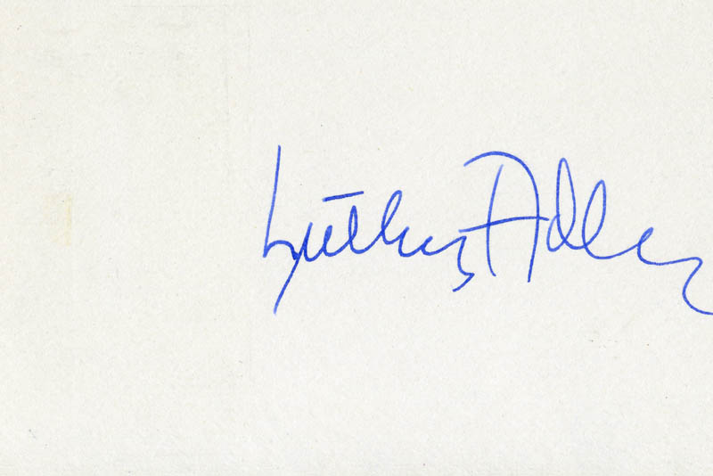 Image 1 for Luther Adler - Autograph - HFSID 18948