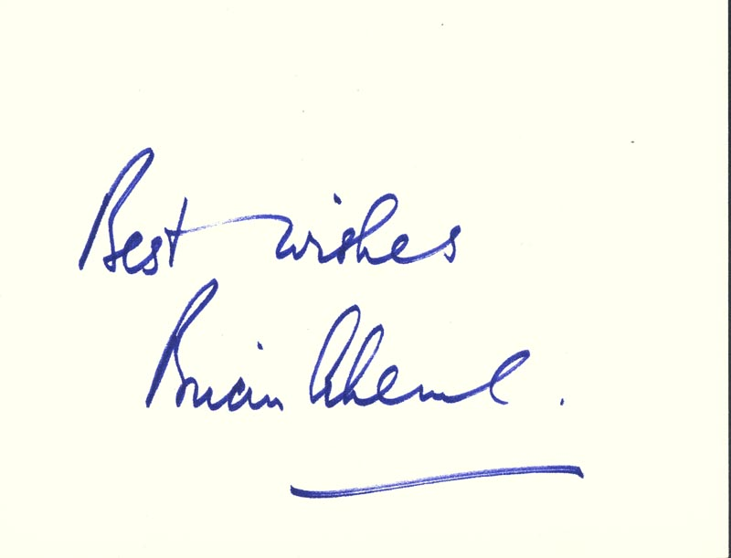 Image 1 for Brian Aherne - Autograph Sentiment Signed - HFSID 18950
