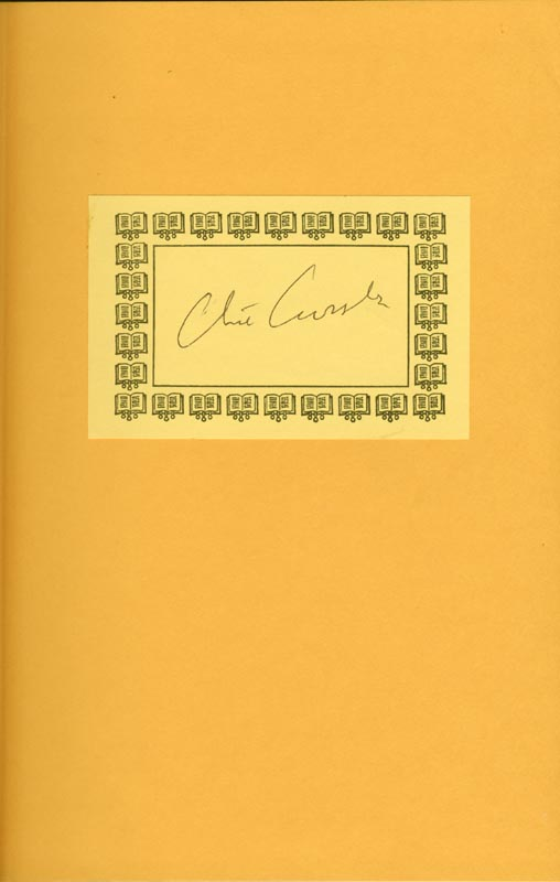 Image 1 for Clive Cussler - Book Plate Signed Circa 1996 - HFSID 189888