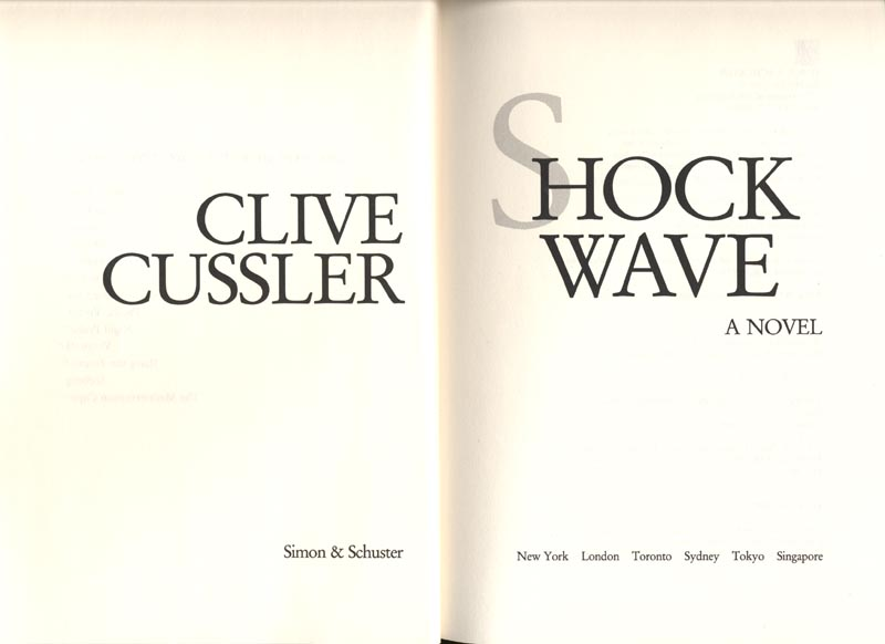 Image 3 for Clive Cussler - Book Plate Signed Circa 1996 - HFSID 189888