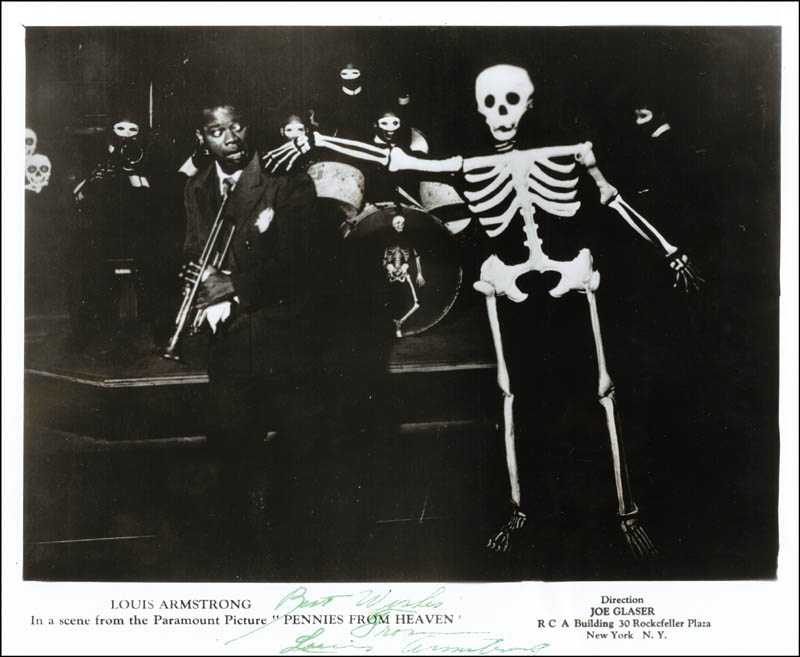 Image 1 for Louis 'Satchmo' Armstrong - Autographed Signed Photograph - HFSID 189961