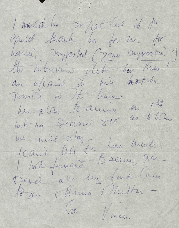 Image 3 for Vivien Leigh - Autograph Letter Signed 01/08/1966 - HFSID 190488