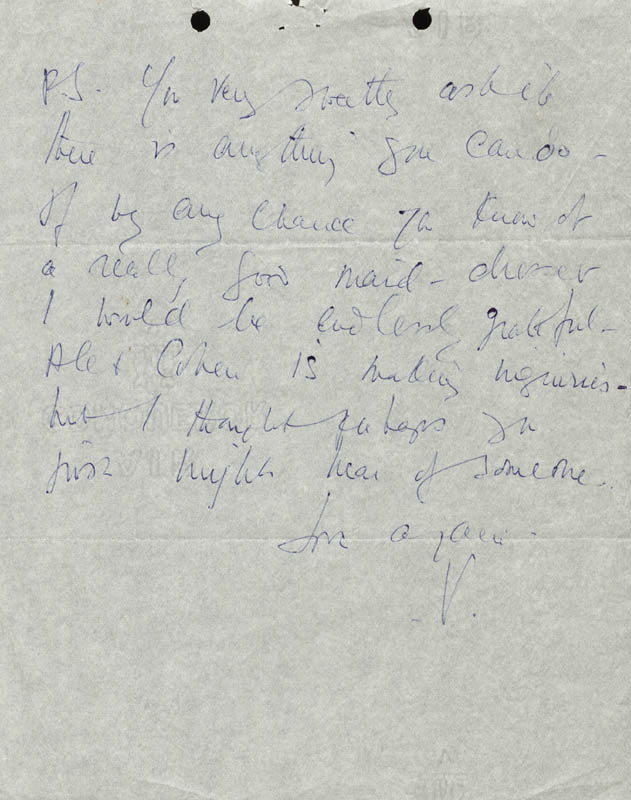 Image 4 for Vivien Leigh - Autograph Letter Signed 01/08/1966 - HFSID 190488