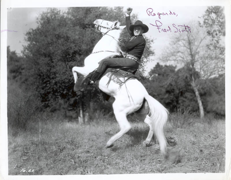 Image 1 for Fred L. 'The Singing Buckaroo' Scott - Autographed Signed Photograph - HFSID 190644