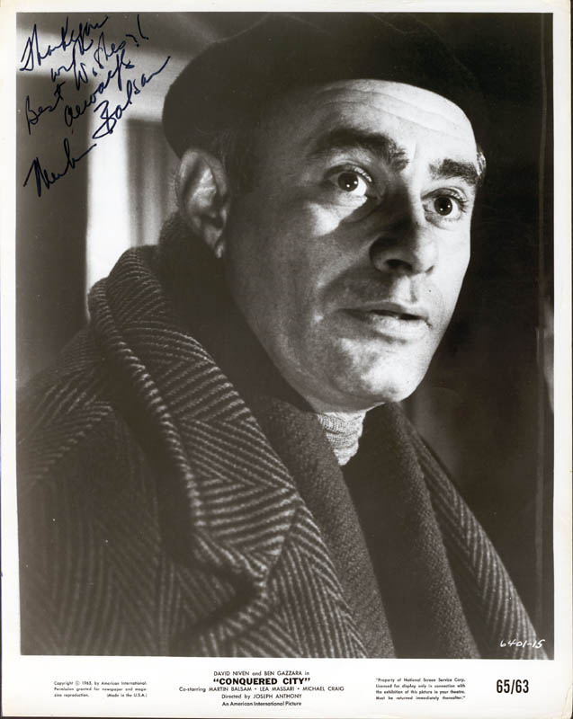 Image 1 for Martin Balsam - Autographed Signed Photograph - HFSID 190920