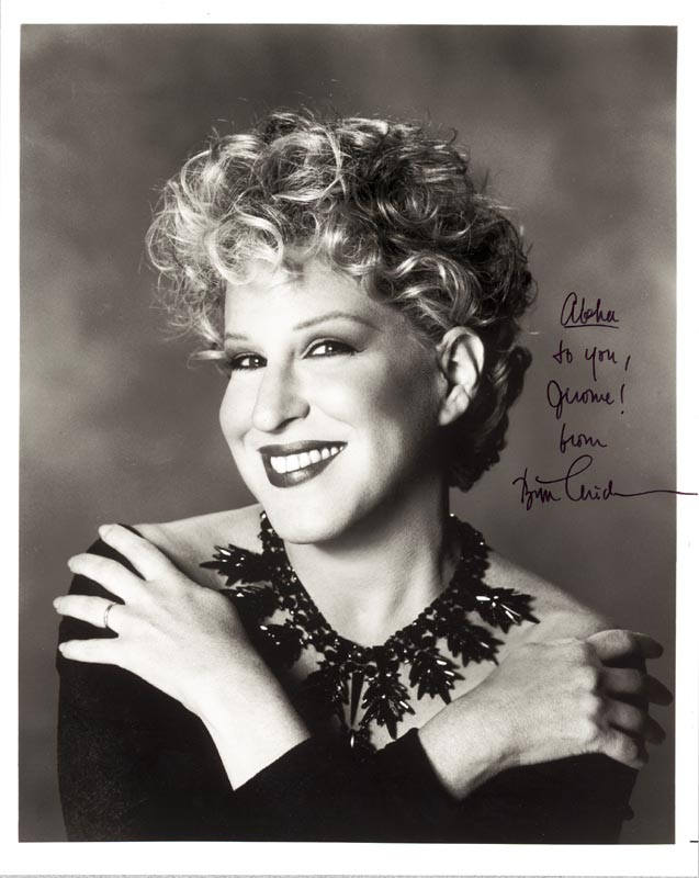 Image 1 for Bette Midler - Autographed Inscribed Photograph - HFSID 190947