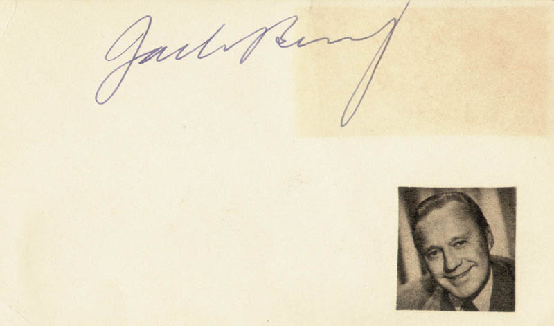 Image 1 for Jack Benny - Autograph Circa 1952 - HFSID 19097