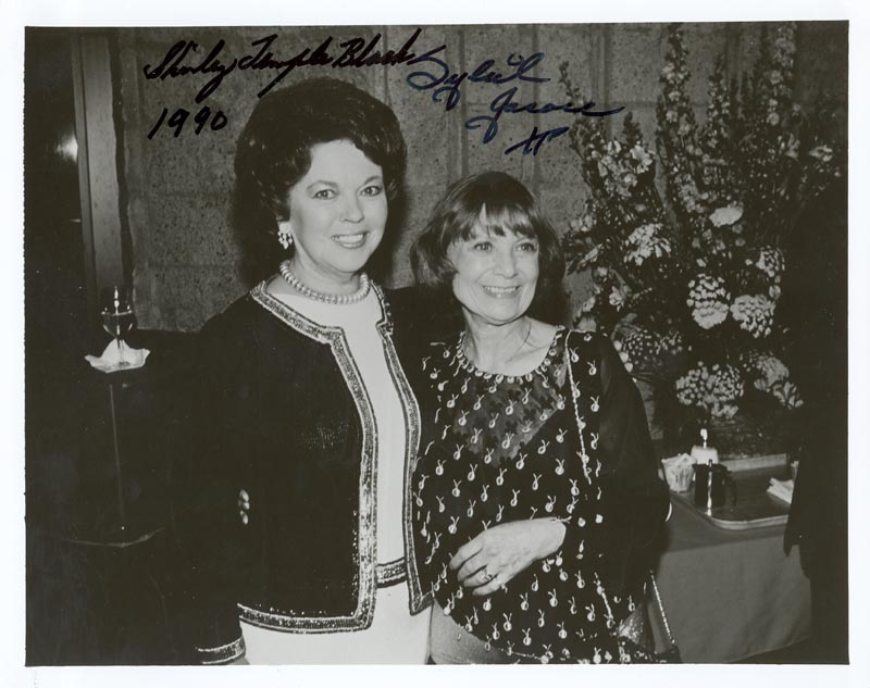 shirley temple photograph signed 1990 with cosigners
