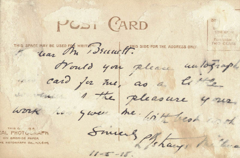Image 3 for Richard Bennett - Picture Post Card Signed 1918 - HFSID 19099