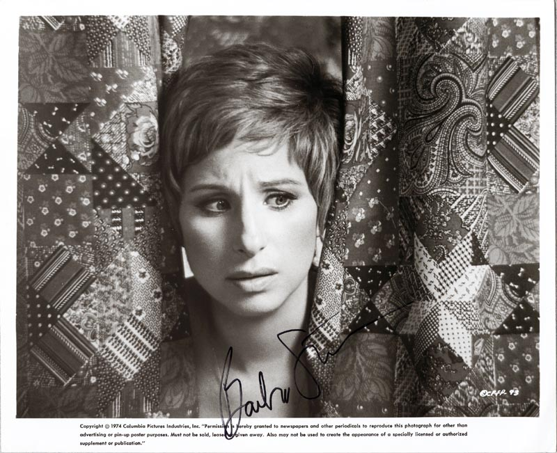 Image 1 for Barbra Streisand - Autographed Signed Photograph - HFSID 191020