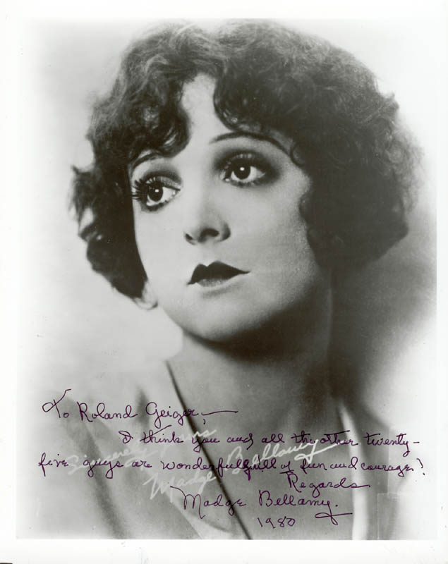 Image 1 for Madge Bellamy - Autographed Inscribed Photograph 1980 - HFSID 19107