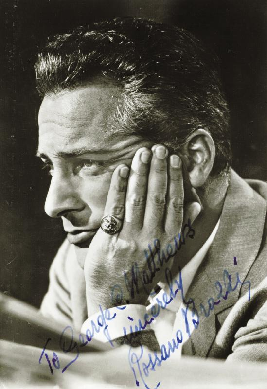 Image 1 for Rossano Brazzi - Inscribed Picture Postcard Signed Circa 1959 - HFSID 191214