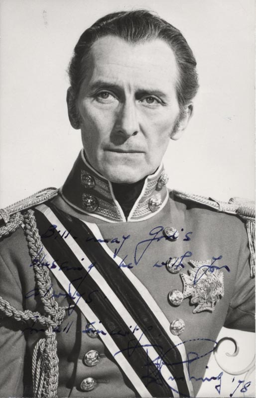 Image 1 for Peter Cushing - Autographed Inscribed Photograph 1978 - HFSID 191225