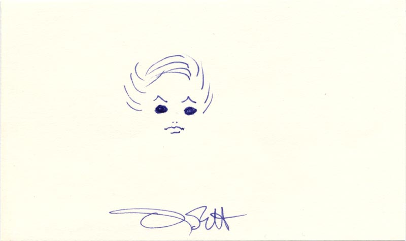 Image 1 for Olivia De Havilland - Self-caricature Signed - HFSID 191548