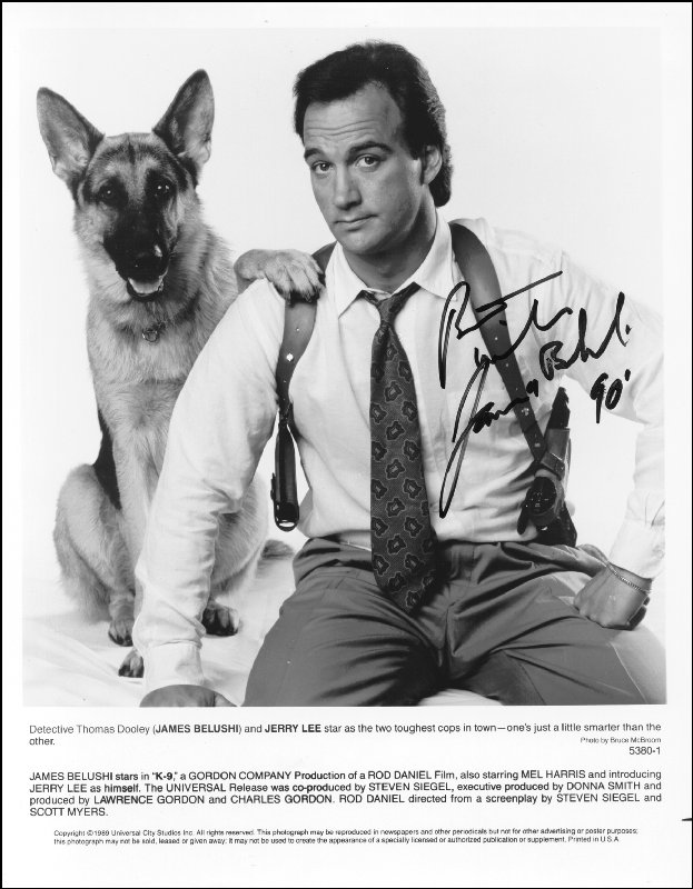 Image 1 for James Belushi - Autographed Signed Photograph 1990 - HFSID 191581