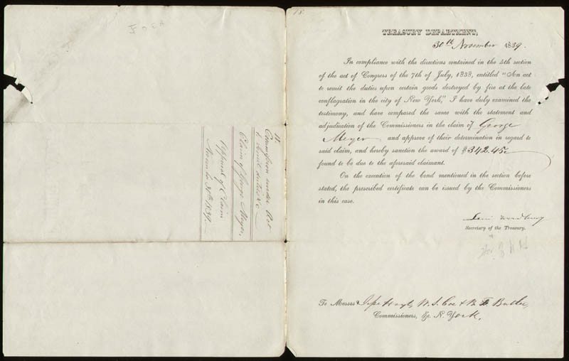 Image 2 for Associate Justice Levi Woodbury - Document Signed 11/30/1839 - HFSID 191836