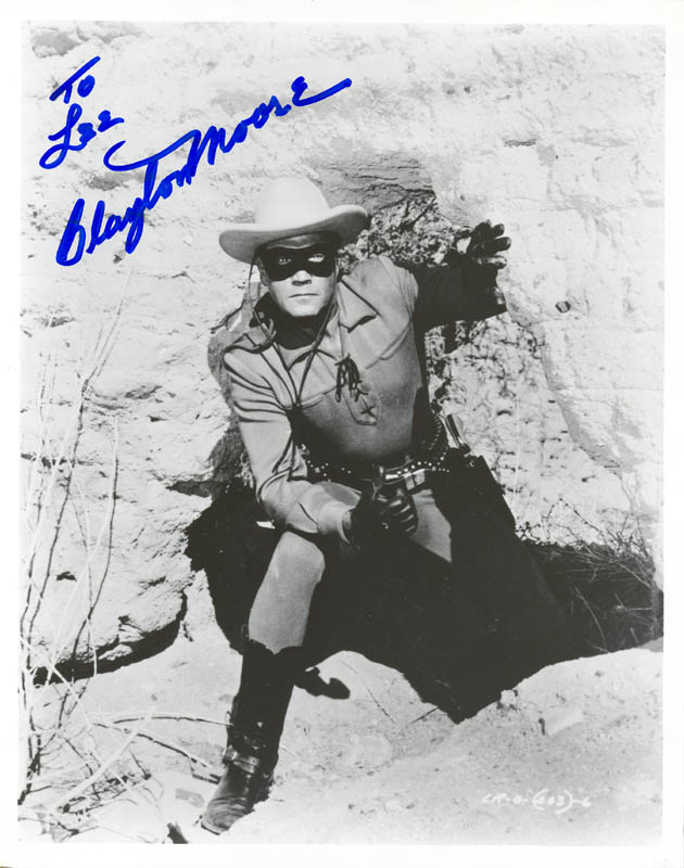 Image 1 for Clayton 'The Lone Ranger' Moore - Autographed Inscribed Photograph - HFSID 192011