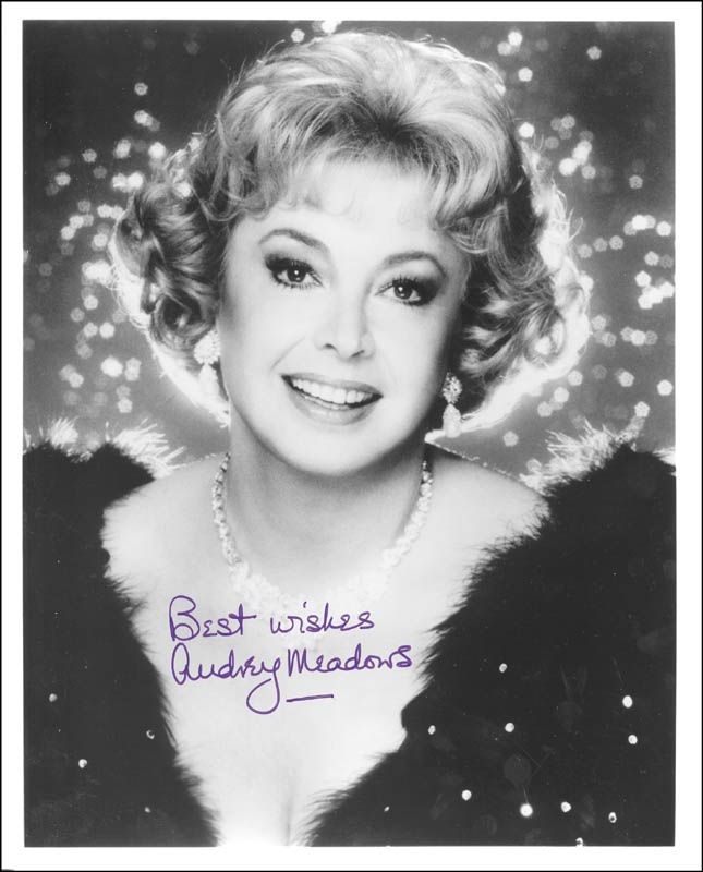 Image 1 for Audrey Meadows - Autographed Signed Photograph - HFSID 192142