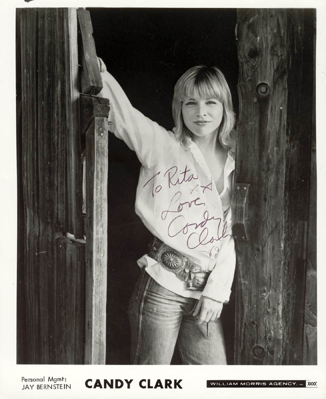 Image 1 for Candy Clark - Autographed Inscribed Photograph 1980 - HFSID 192287