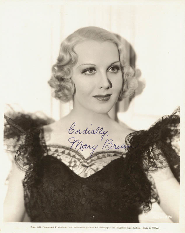 Image 1 for Mary Brian - Autographed Signed Photograph - HFSID 19240