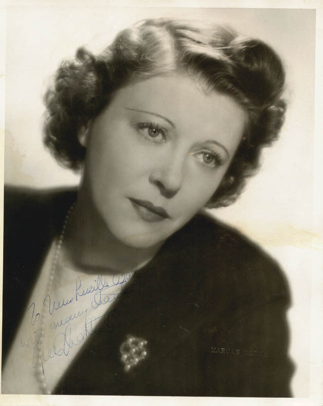 Image 1 for Ruth Chatterton - Autographed Inscribed Photograph - HFSID 19290