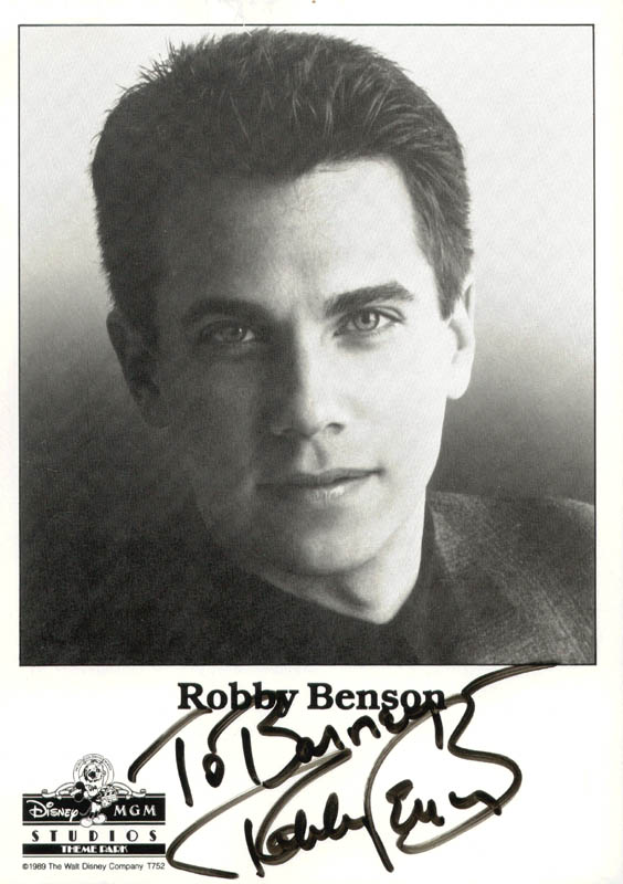 Image 1 for Robby Benson - Inscribed Printed Photograph Signed In Ink - HFSID 193015