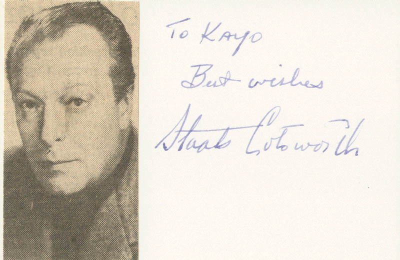 Image 1 for Staats Cotsworth - Autograph Note Signed - HFSID 19354