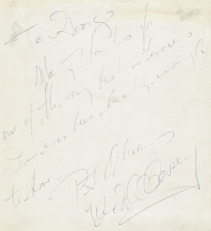 Image 1 for Wendell Corey - Autograph Note Signed - HFSID 19365