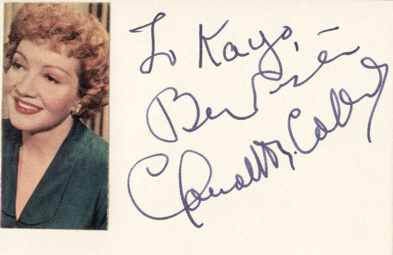 Image 1 for Claudette Colbert - Autograph Note Signed - HFSID 19397