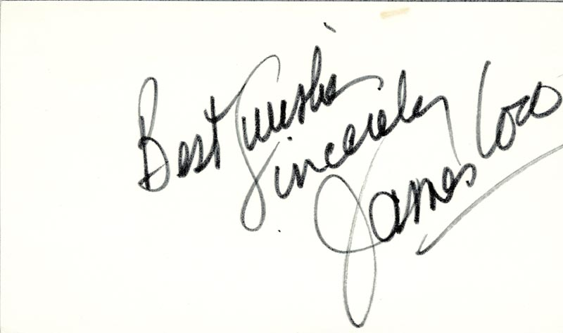 Image 1 for James 'Jimmy' Coco - Autograph Sentiment Signed - HFSID 19401