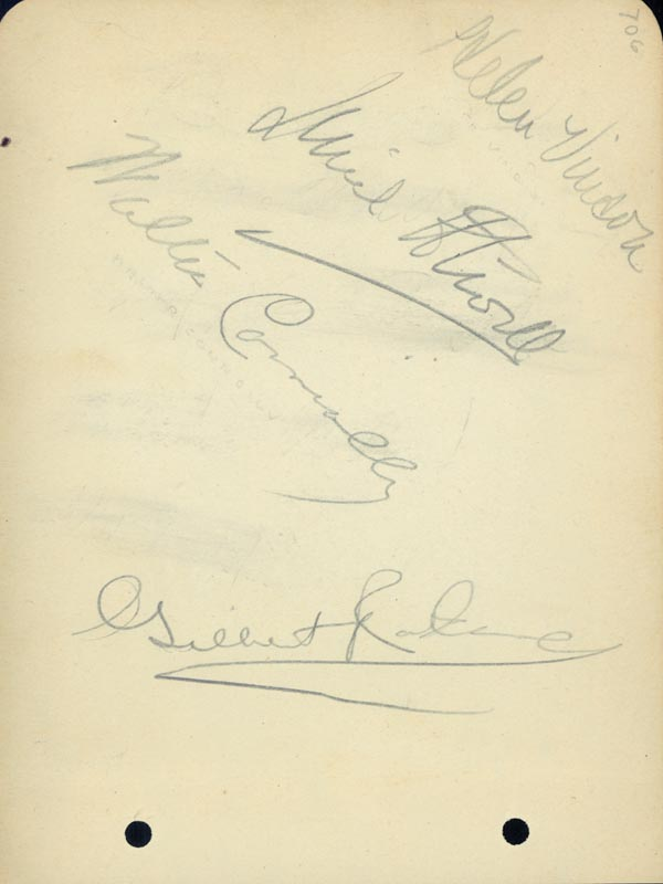 Image 3 for Melvyn Douglas - Autograph co-signed by: Virginia Bruce, Walter Connolly, Gilbert Roland, Helen Vinson - HFSID 19447