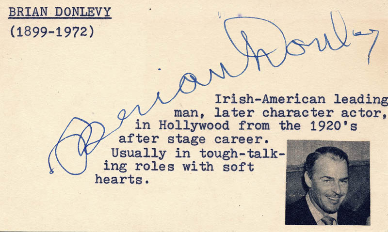 Image 1 for Brian Donlevy - Autograph - HFSID 19459