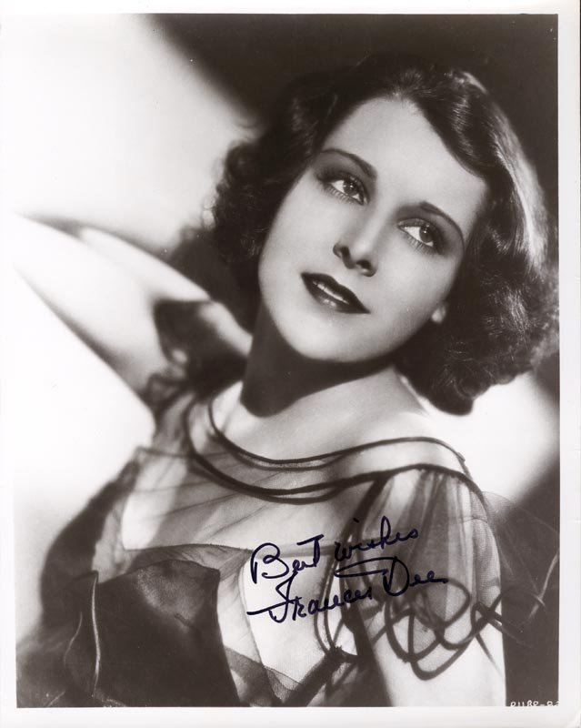 Image 1 for Frances Dee - Autographed Signed Photograph - HFSID 19491