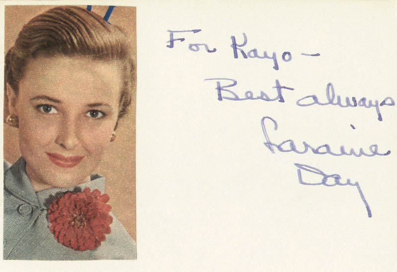 Image 1 for Laraine Day - Autograph Note Signed - HFSID 19495