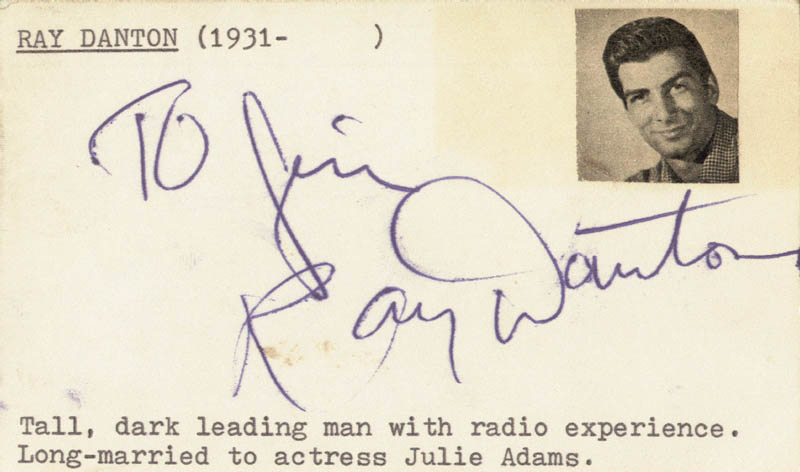 Image 1 for Ray Danton - Inscribed Signature 07/30/1955 - HFSID 19514