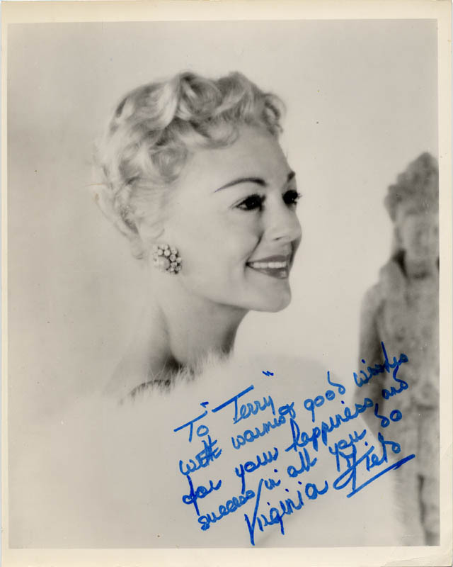 Image 1 for Virginia Field - Autographed Inscribed Photograph - HFSID 19572