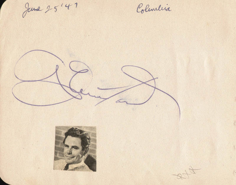Image 1 for Glenn Ford - Autograph Circa 1947 co-signed by: Evelyn Keyes - HFSID 19642