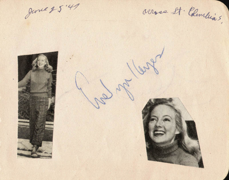 Image 3 for Glenn Ford - Autograph Circa 1947 co-signed by: Evelyn Keyes - HFSID 19642