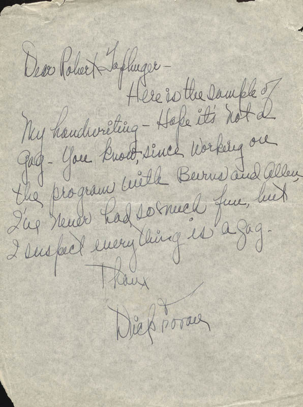 Image 1 for Dick Foran - Autograph Letter Signed - HFSID 19647