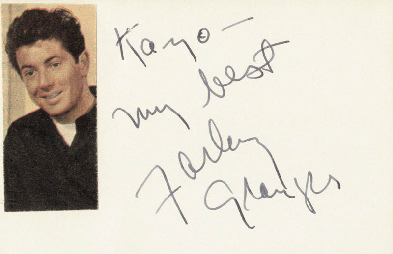 Image 1 for Farley Granger - Autograph Note Signed - HFSID 19781